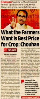 What the farmers want is best price for crop: Chouhan