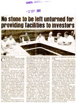 No stone to be left unturned for providing facilities to investors
