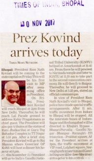 Prez Kovind arrives today