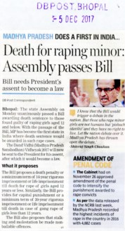 death for raping minor assembly passes bill