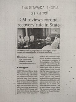 CM reviews corona recovery rate in state