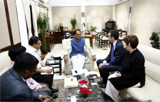 British High Commission delegation meets CM Chouhan