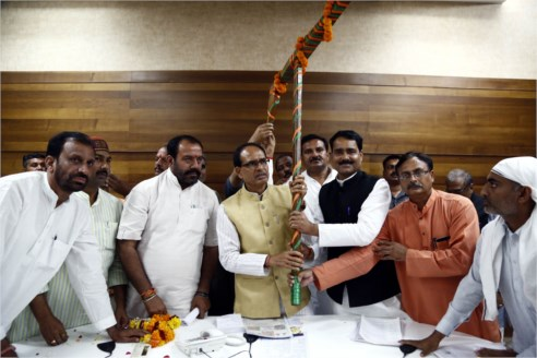 Office Bearers of Kisan Morcha meet CM Chouhan