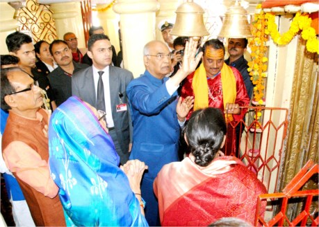President Shri Kovind Performs Pooja-Archana at Narmada's Origin Point and Narmada Mandir
