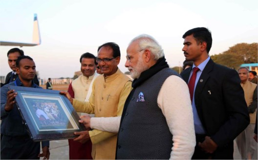 CM  Chouhan gives warm send-off to PM Shri Modi