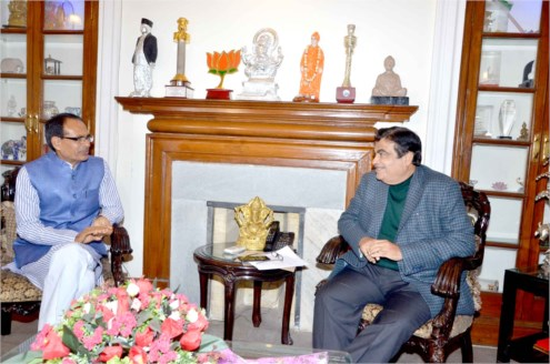 Chief Minister Chouhan meets union minister for Surface Transportion Shri Nitin Gadkari