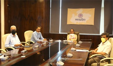 CM Shri Chouhan holds deliberations through VC with Collectors-Commissioners